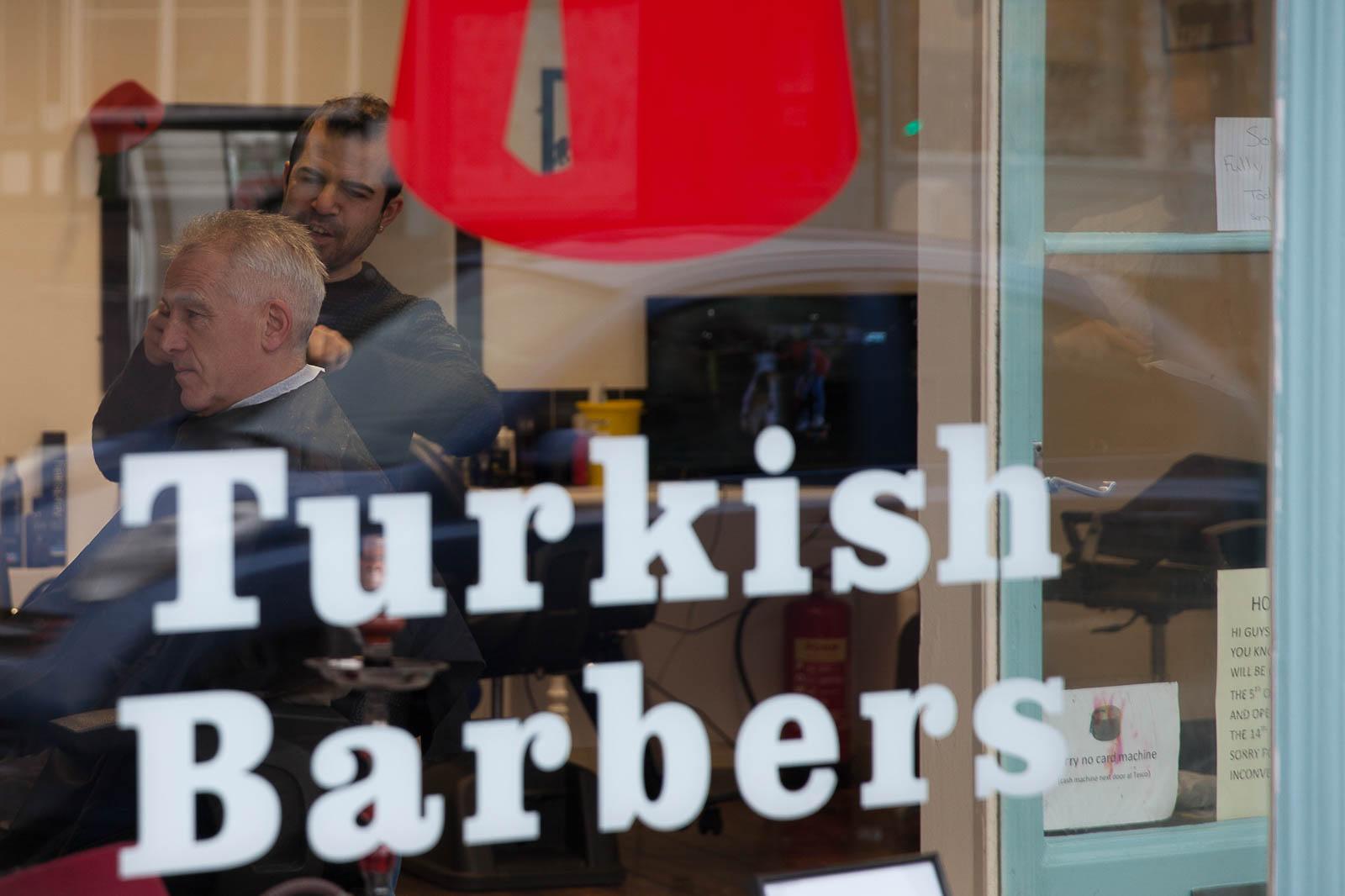 Barbershop auf der Isle of White, England