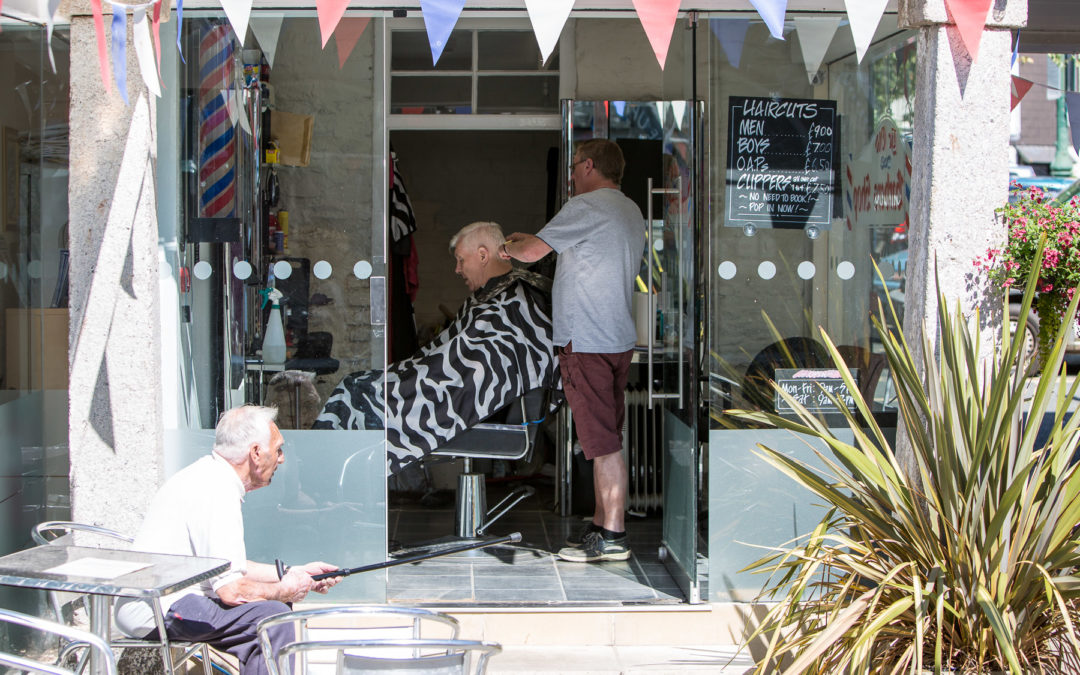 Sonnig, lässig im Barbershop