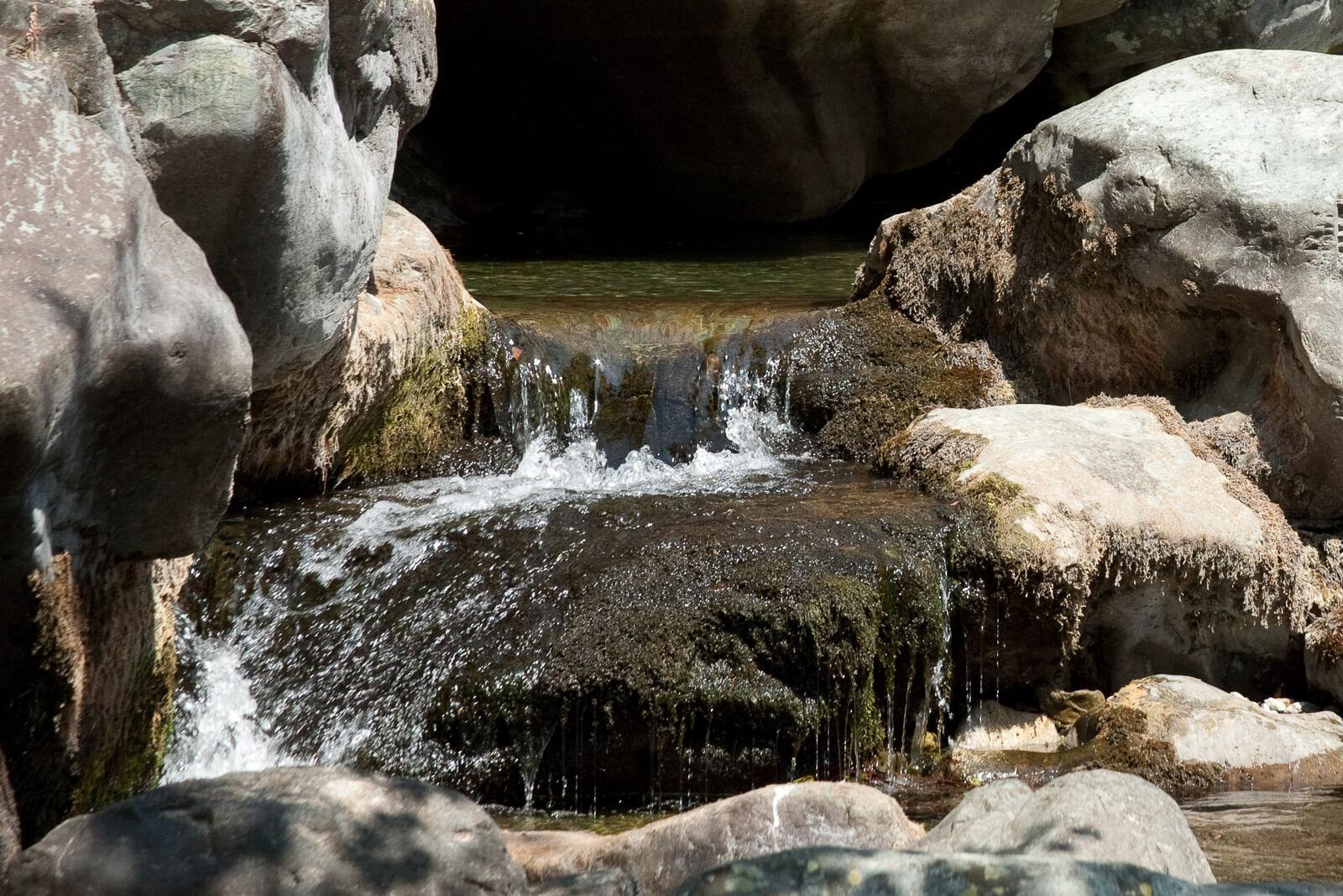 Sauberes, frisches Wasser am Oberlauf der Cesse im Languedoc
