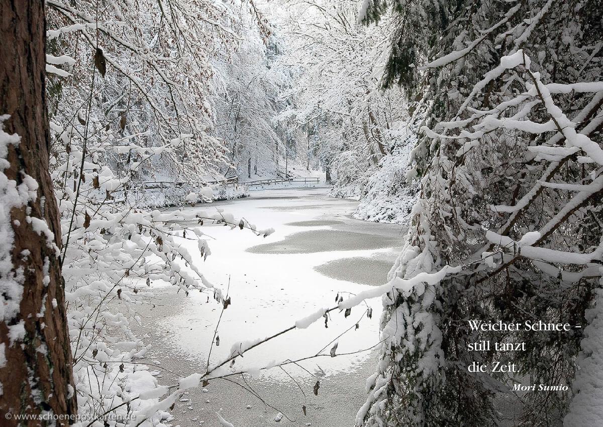 Winterlicher Märchenzauber: Märchensee bei Wendelsheim, nur 25 km von Reutlingen. © www.schoenepostkarten.de