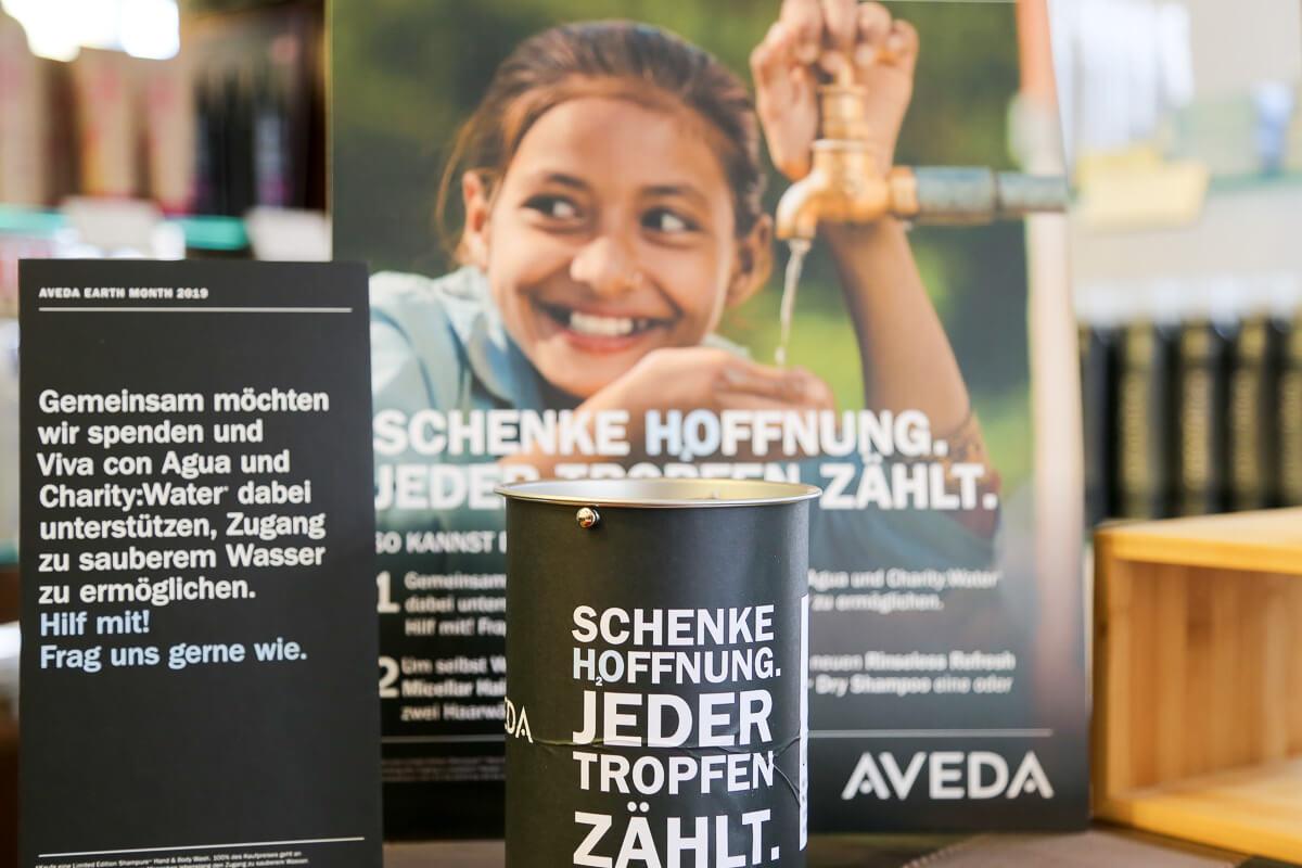 Wasser ist ein Menschenrecht! AVEDA Earth Month 2019 bei Daniel Schmid Friseure Reutlingen