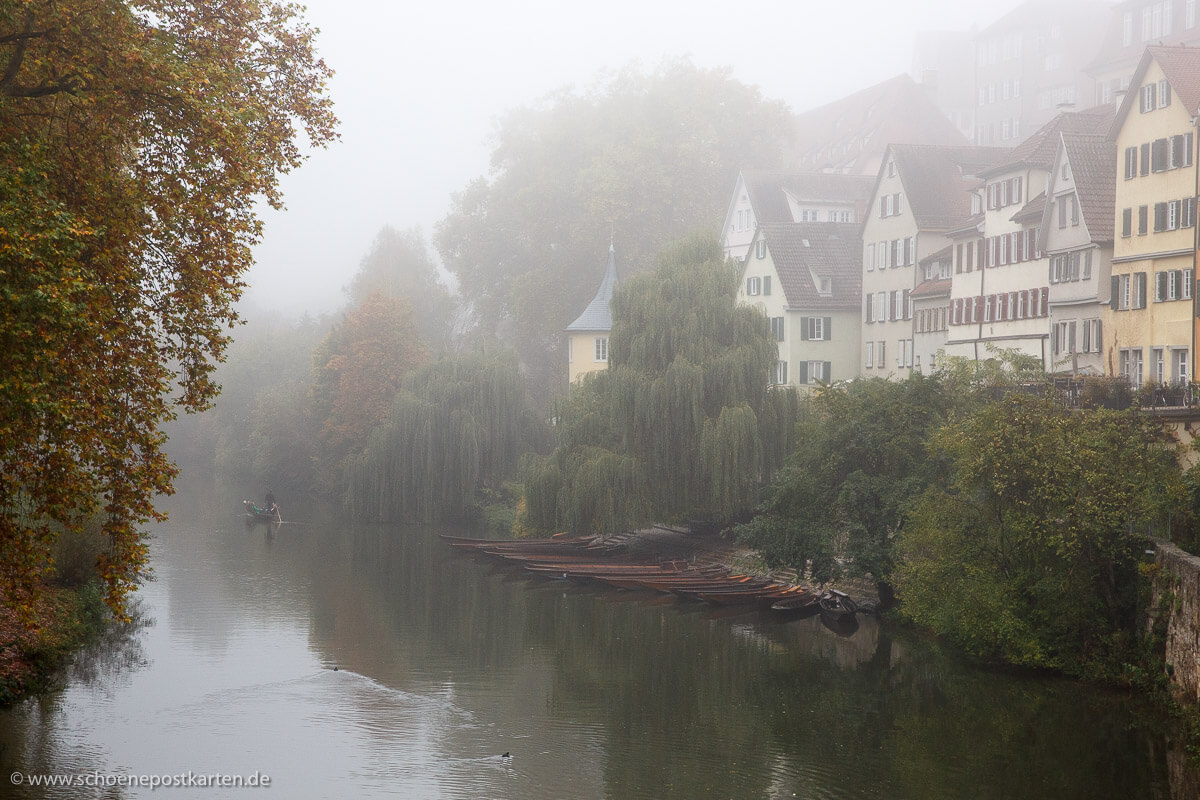 Herbststimmung am Hölderlinturm in Tübingen